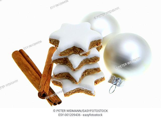 Christmas still life, cinnamon stars