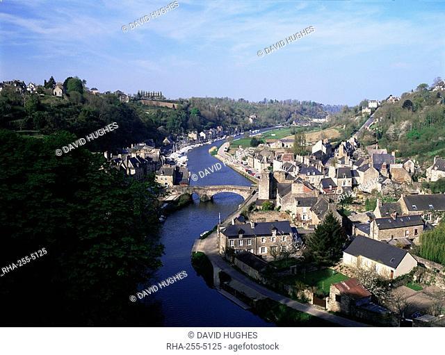 River Rance, Le Port, Dinan, Cotes d'Amor, Brittany, France, Europe