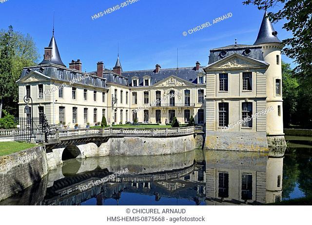 France, Oise, Ermenonville, the castle of Ermenonville