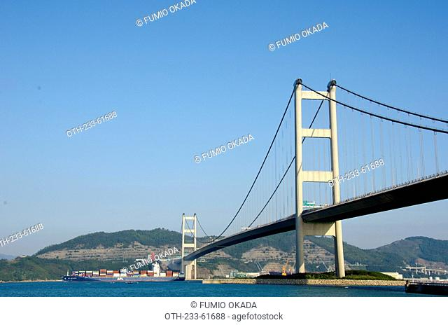 Overlooking Tsing Ma Bridge from Park Island, Ma Wan, Hong Kong