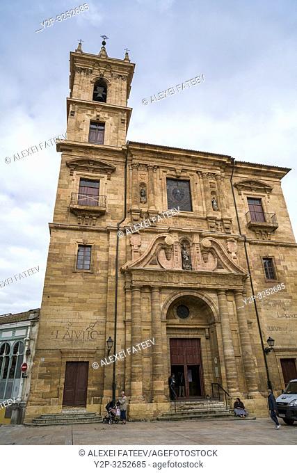 Church San Isidoro El Real in Oviedo, Asturias, Spain