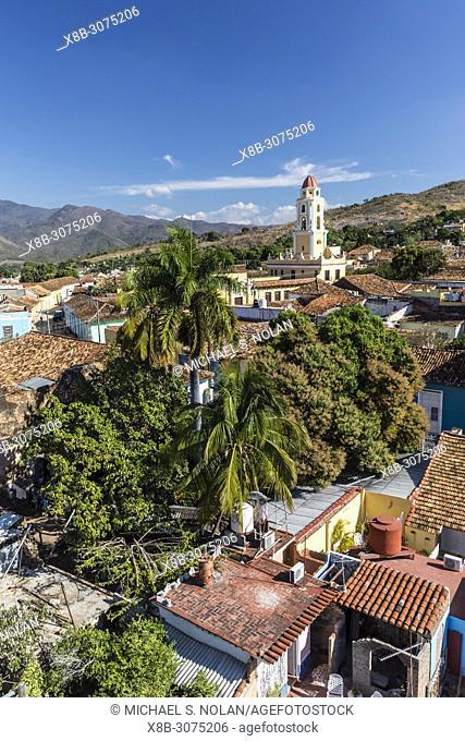 The Convento de San Francisco and Plaza Mayor in the UNESCO World Heritage town of Trinidad, Cuba