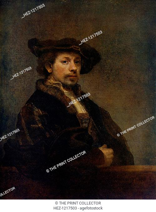'Self Portrait at the Age of 34', 1640, (1912). A colour print from Famous Paintings, with an introduction by Gilbert Chesterton, Cassell and Company, (London
