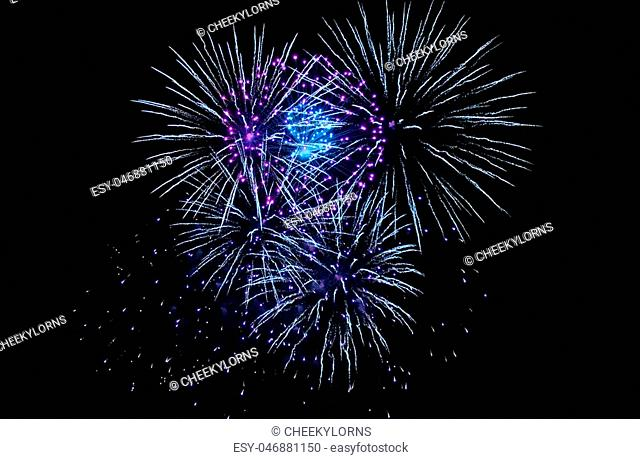Fireworks firework light up the sky with dazzling display New years eve event