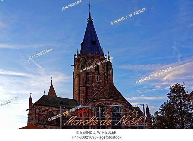 Weihnachtsmarkt, Marché Noel, Kirche, Eglise Saints-Pierre-et-Paul