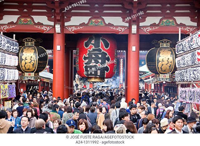 Tokyo City, Asakusa District, NakaMise Dori Street, Senso-Ji Temple