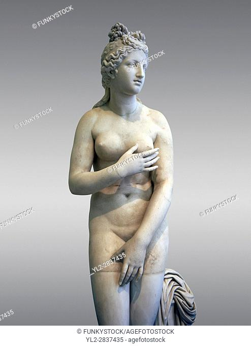 2nd century AD Roman marble sculpture of Aphrodite (Venus), â. . Dresden Capitoline Type, copied from a Hellanistic Greek original, inv 6238