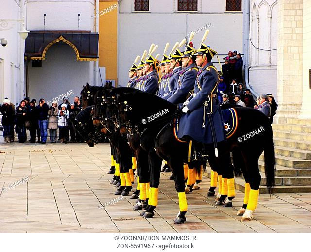 Changing of the Guards Ceremony, Cathedral Square, Moscow Kremlin Complex, Russia