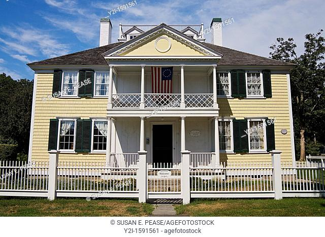 The Julia Wood House, in Falmouth, Massachusetts, was built in the 1700s and contains a museum  Falmouth, Cape Cod, Massachusetts, United States
