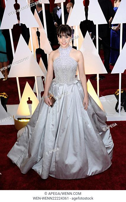 The 87th Annual Oscars held at Dolby Theatre - Red Carpet Arrivals Featuring: Felicity Jones Where: Los Angeles, California