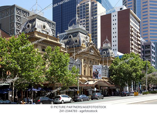 Princess theatre in Springstreet, Melbourne, Australia