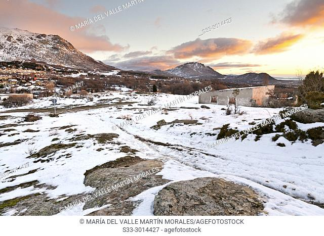 Sunrise at Sierra de la Cabrera. Madrid. Spain