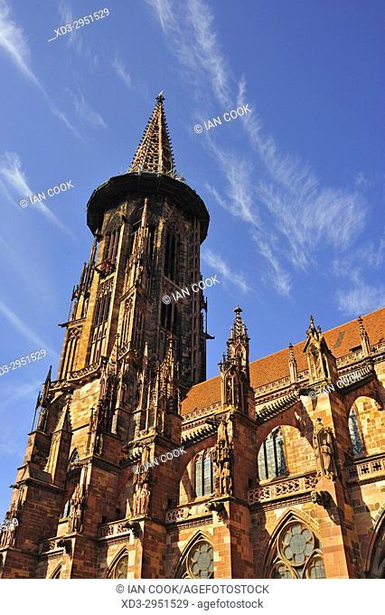 Freiburg Minster, Old Town, Freiburg, Baden-Wurttemberg, Germany