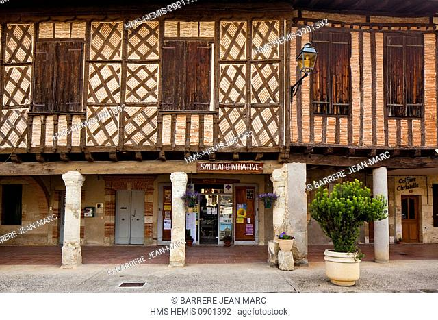 France, Gers, Cologne, half timbered houses