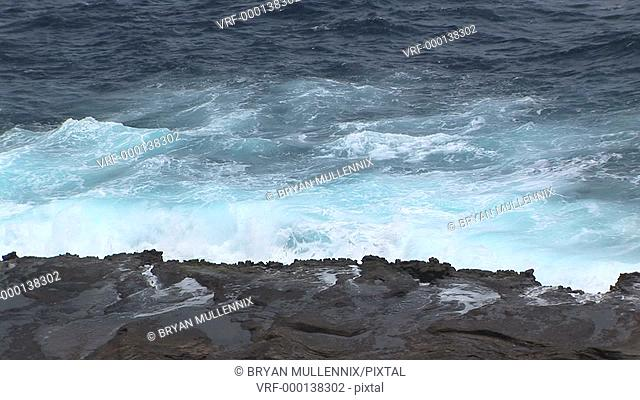 Rocky coastline near Sandy Beach, Hawaii