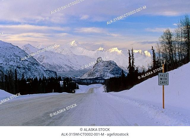 Glenn Hwy Lions Head Chugach Mtns Southcentral AK winter scenic