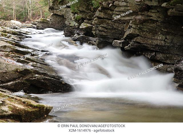 Norway Rapids along Avalanche Brook in Waterville Valley, New Hampshire USA  This area was logged during the Mad River Drainage Logging Era