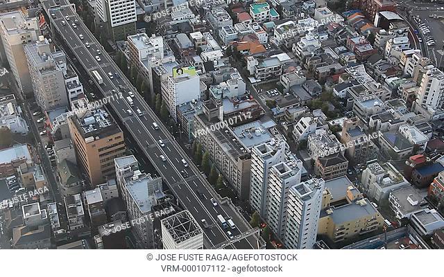 Japan-Tokyo City-The Shuto Elevated expressway in Central Tokyo-Shibuya