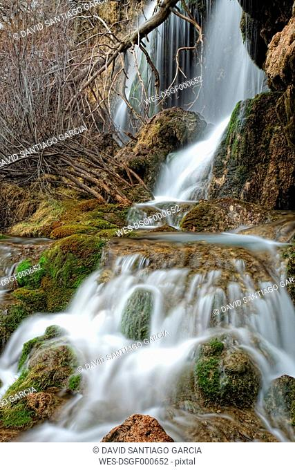Spain, Waterfalls in Cuerva river