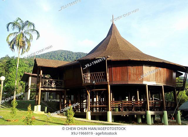Modern Bidayuh Dayak communal house, Sarawak, Malaysia