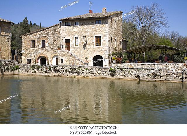Bagno Vignoni, Siena province, Tuscany, Italy, Europe