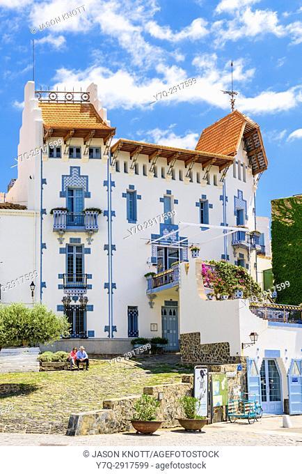 Cadaqués Blue House, the landmark Modernist style Casa Blaua, Cadaques, Catalonia, Spain