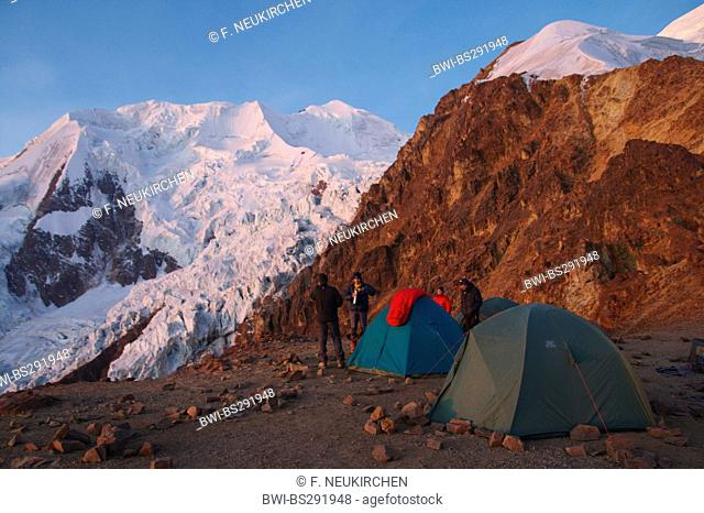 view from Illimani High Camp, Bolivia, Andes, Cordillera Real