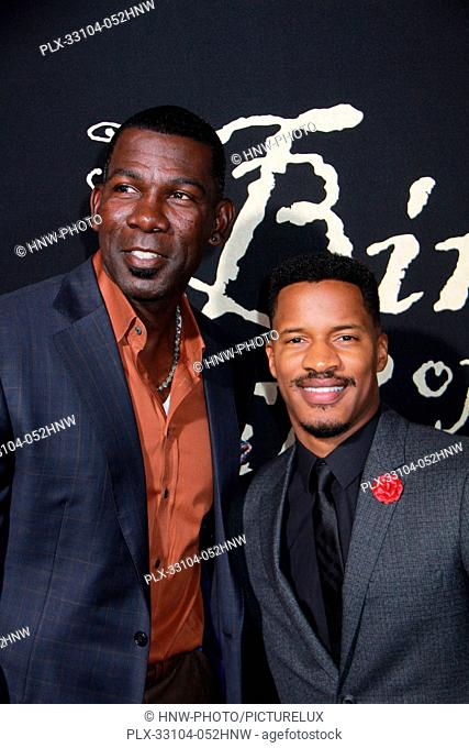 Michael Finley, Nate Parker at The Birth of a Nation Los Angeles Premiere held at the Cinerama Dome on Wednesday, Sept. 21, 2016, in Los Angeles, California
