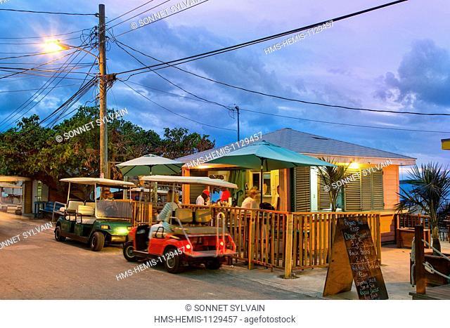 Bahamas, Harbour Island, Restaurants along Bay Street
