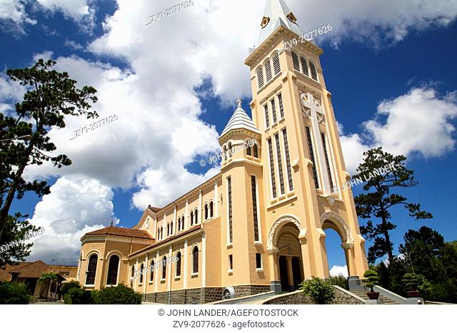 Built in 1931, Dalat cathedral is the largest church in the city of Dalat..It is known as the rooster church because on the top of the tower was placed a bronze...