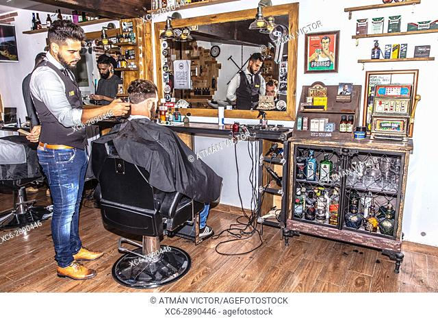 at the barber's