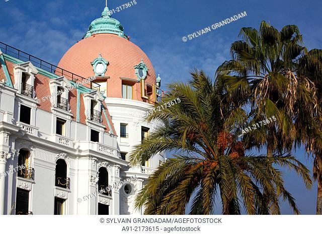 France, Provence, Alpes Maritimes (06), Nice, Promenade des anglais, Hotel Negresco