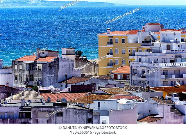 Europe, Portugal, Algarve, Lagos, view from above for the old town