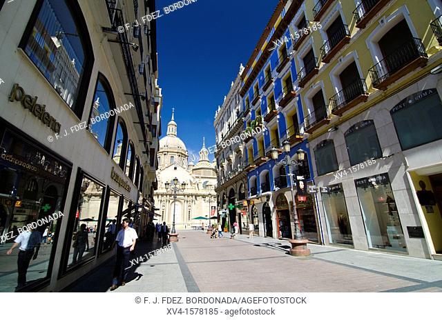 Alfonso Street  Saragosse  Aragon  Spain