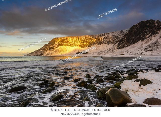 Unstad Beach, Lofoten Islands, Arctic, Northern Norway