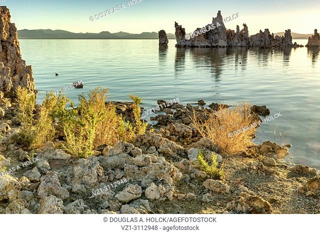 Dawn of another day on Mono Lake Tufa in the Mono Lake Tufa State Natural Reserve, Lee Vining, CA, USA