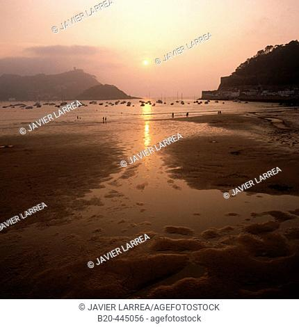 La Concha beach, Guipuzcoa, Basque Country, Spain