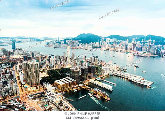 Hong Kong island and skyline, Hong Kong, China