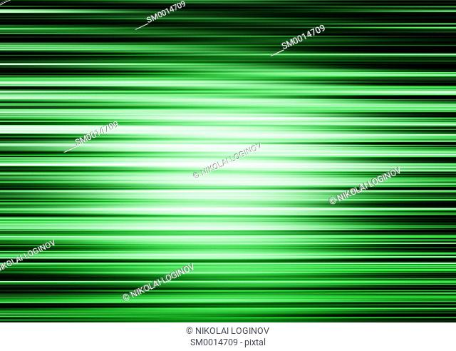 Horizontal green lines motion blur abstract illustration background