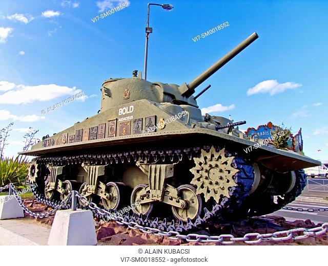 Canadian tank, Courseulles-sur-Mer, Juno Beach, 1World War II, Calvados, Normandie, France