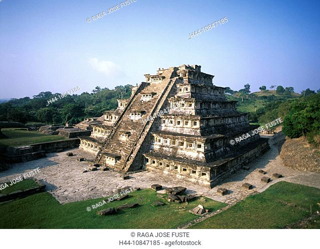 Mexico, Central America, America, El Tajin, Veracruz State, Ruins, UNESCO, World heritage site, Pyramid of the Niches
