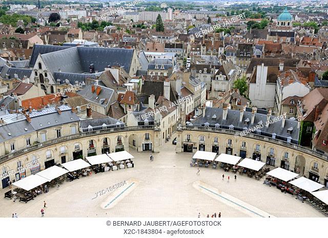 Place de la Liberation Square, from Philippe le Bon Tower, Dijon, Côte-d'Or departement, Burgundy, France