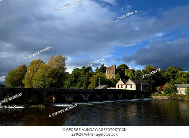 15 arch Bridge over the River Suir and 12th Century Castle, Ardfinnan, County Tipperary, Ireland