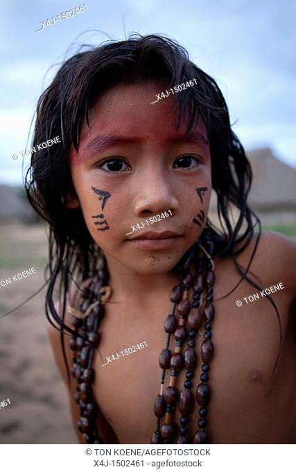Xingu indians in the Amazon, Brazil