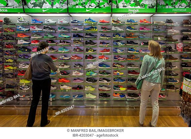 Sports shoes, Dubai International Airport, United Arab Emirates