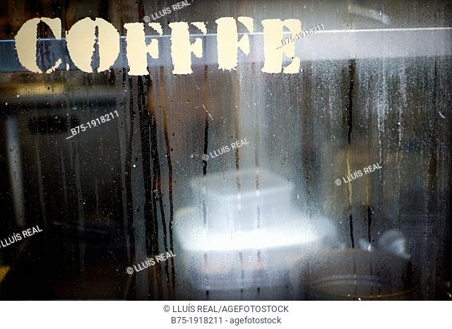 Coffee shop in Brixton market, London, England, UK