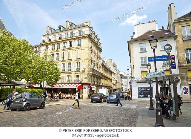 Place Saint Germain des Pres, St Germain des Pres, Left Bank, Paris, France