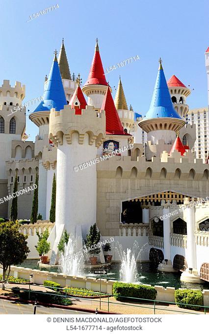 Excalibur Hotel Casino Las Vegas Nevada Sin City Gambling Capital NV