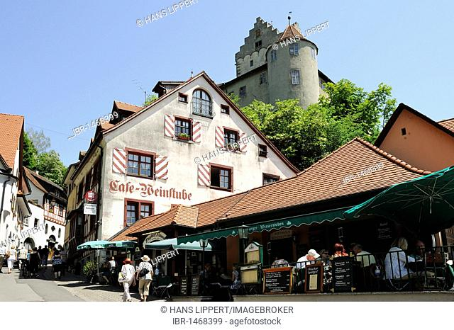 City centre and castle of Meersburg, Lake Constance, Baden-Wurttemberg, Germany, Europe