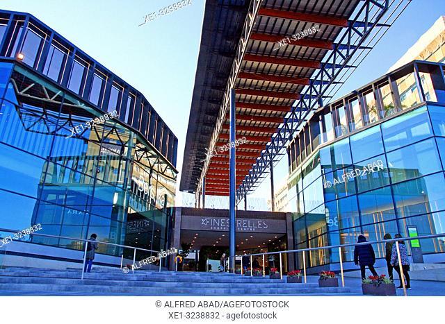 Access to the shopping center Finestrelles, Esplugues de Llobregat, Catalonia, Spain